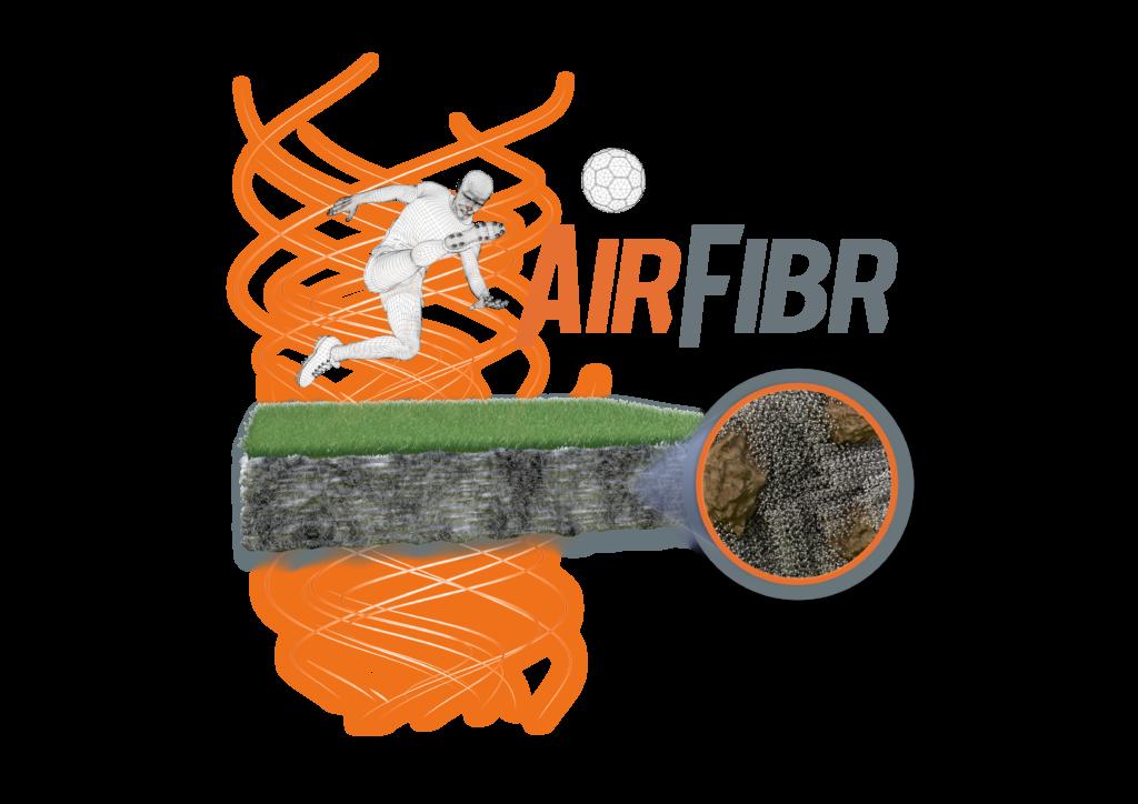 schema airfibr pelouse hybride ballon joueur